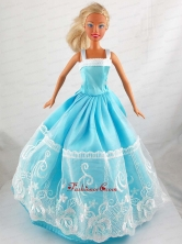 Pretty Blue Princess Dress With Lace Gown For Quinceanera Doll Babidf320for