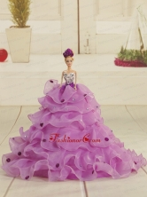 Pretty Bowknot Organza Lilac Quinceanera Doll Dress Quinceanera007for
