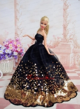 Pretty Dress With Sequins Made To Fit The Quinceanera Doll Babidf229for