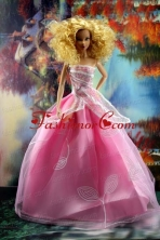 Pretty Pink Princess Dress For Quinceanera Doll Babidf182for