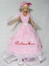 Pretty Pink Princess Dress Made To Fit The Quinceanera Doll Babidf329for