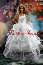Pretty Ruffled Layers Wedding Dress To Quinceanera Doll Dress Babidf204for