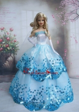 Pretty Sequin Over Skirt Made To Fit The Quinceanera Doll Babidf221for