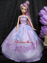 Pretty Straps Lilac Dress With Sequins Made To Fit The Quinceanera Doll Babidf250for