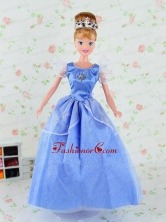 Pretty Tulle Party Dress For Blue Noble Quinceanera Doll Babidf303for