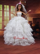 Romantic Wedding Dress To Quinceanera Doll With Ruffled Layers Babidf404for