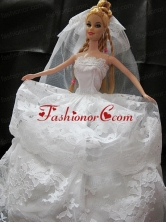 Romantic Wedding Dress With Lace Gown For Quinceanera Doll Babidf321for