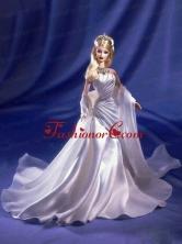 Ruching Elastic Woven Satin Princess Quinceanera Doll Dress Babidf018for