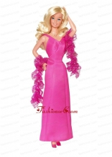 Satin Hot Pink Made To Fit The Quinceanera Doll Babidf009for