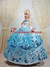 Sequin Decorate And Ball Gown Dress For Noble Quinceanera Babidf053for