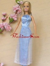 Simple Baby Blue Holiday Dress To Quinceanera Doll Babidf401for