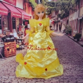 So Beautiful Yellow Appliques And Beading Made To Fit The Quinceanera Doll Babidf252for