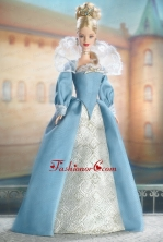 The Most Amazing Blue Dress With Long Sleeves For Quinceanera Doll Dress Babidf030for