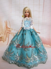 The Most Amazing Blue Dress With Sequins Made To Fit The Quinceanera Doll Babidf038for