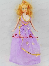 The Most Amazing Lilac Dress With Appliqes Made To Fit The Quinceanera Doll Babidf072for