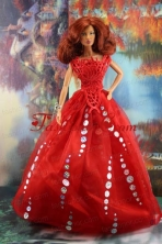 The Most Amazing Red Dress With Sequins Made To Fit The Quinceanera Doll Babidf184for