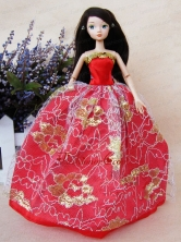 The Most Amazing Red Dress With Sequins Made To Fit The Quinceanera Doll Babidf058for