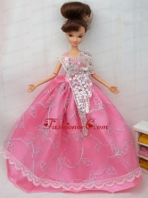 The Most Amazing Rose Pink Dress With Sequins Made To Fit The Quinceanera Doll Babidf077for
