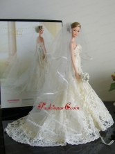 The Most Amazing Wedding Dress With Court Train Made To Fit The Quinceanera Doll Babidf023for