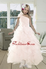 2015 Gorgeous A Line One Shoulder Prom Dress with Beading and Ruffles XFLGO840FOR