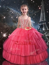 Beautiful Ball Gown Straps Little Girl Pageant Dresses with Beading LGDTA105002FOR