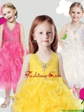 Cheap Halter Top Little Girl Pageant Dress with Beading and Ruffles THLG038FOR