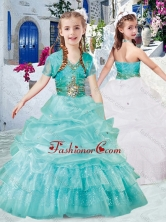 Classical Halter Top Little Girl Pageant Dresses with Beading and Bubles PAG280FOR