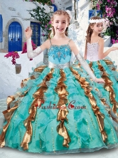 Customized Ball Gown Appliques and Ruffles Little Girl Pageant Dresses for Party PAG240FOR