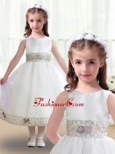 Discount Scoop White Flower Girl Dresses with Appliques FGL241FOR