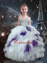 Fashionable Ball Gown Ruffled Layers Little Girl Pageant Dresses in Multi Color LGDTA115002-1FOR