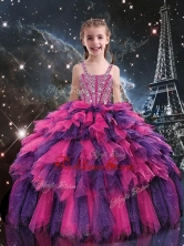 Gorgeous Ball Gown 2016 Little Girl Pageant Dresses with Beading LGDTA103002FOR