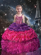 Gorgeous Ball Gown Straps Little Girl Pageant Dresses for 2016 LGDTA97002FOR