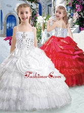 Hot Sale Spaghetti Straps Little Girl Pageant Dresses with Ruffled Layers PAG276FOR