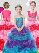Lovely Beaded and Ruffled Little Girl Pageant Dress with Puffy Skirt THLG069FOR