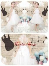 Lovely High Low Halter Top White Flower Girl Dresses FGL257FOR
