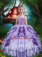 Luxurious Ball Gown Beading and Ruffles Little Girl Pageant Dress for 2016 LGDTA81002FOR