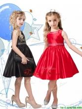 New Style Beaded Scoop Little Girl Pageant Dress in Knee Length THLG086FOR