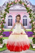 Newest Beading Little Girl Dress for 2015 XFLGA11FOR