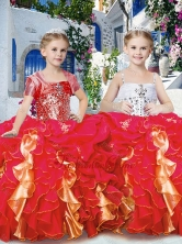 Perfect Ball Gown Little Girl Pageant Dresses with Beading and Ruffles PAG236FOR