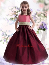 Perfect Multi Color Ruffled 2015 Little Girl Pageant Dress with Sash WMDLG038FOR