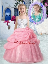 Perfect Spaghetti Straps Little Girl Pageant Dresses with Beading and Bubles PAG270FOR