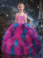 Petty Straps Beading Multi Color Little Girl Pageant Dresses for Winter LGDTA106002FOR