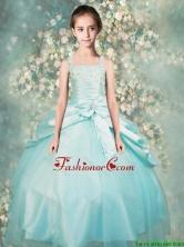 Popular Straps Beaded Mini Quinceanera Dresses in Aqua Blue LGFA9OG47FOR