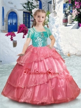 Pretty Spaghetti Straps Little Girl Pageant Dresses with Ruffles and Beading PAG230FOR