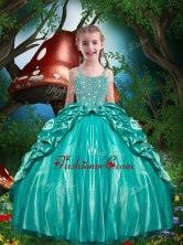 Pretty Straps Beading 2016 Little Girl Pageant Dresses LGDTA80002FOR