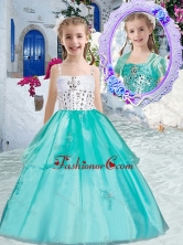 Sweet Ball Gown Little Girl Pageant Dresses with Appliques and Beading PAG246FOR
