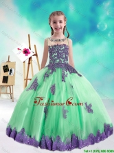 Sweet Multi Color Little Girl Pageant Dresses with Appliques and Beading PAG196-2FOR