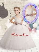 Wonderful Cap Sleeves Flower Girl Dresses with Bowknot and Lace FGL264FOR