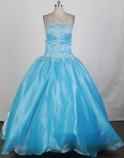 2012 Cheap Ball Gown Strapless Floor-Length Quinceanera Dresses Style JP42647