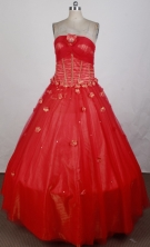 2012 Cheap Ball Gown Strapless Floor-Length Quinceanera Dresses Style JP42669